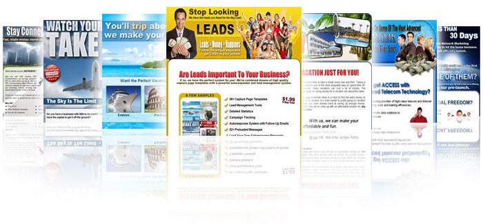 We have hundreds of ready to go capture page templates